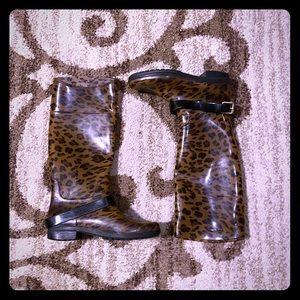 Ralph Lauren Rain Boots Animal Print 6